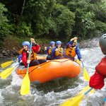 White Water Rafting in the Rainforest on the Adventure Tour