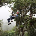 Ziplining in the Rainforest on the Adventure Tour