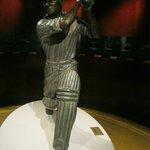 Sir Don Bradman lifelike figure in the Sports museum
