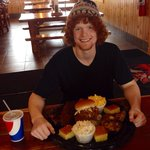Mountain Man Food Challenge 326 have tried to conquer, only 14 have completed!