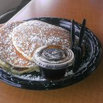 """""""River Disks"""" 3 pancakes & syrup breakfast special"""