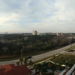 Panoramic view from the 8th floor balcony.