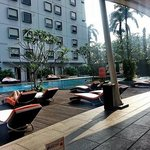 The Pool and Hotel from Java Jazz Lounge
