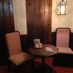 Corner breakfast area in king bed room