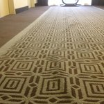 Stretched out carpet