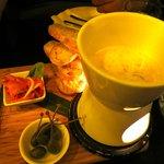 leek and cheese fondue.
