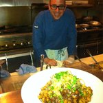 Richie De mane is the Wizard Chef Dish is Six Hour Braised beef