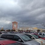View to the outlet from the parking lot
