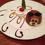 The chocolate rabbit dessert - so cute and so yum!