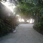 Path before rooms heading toward beach