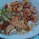 Romaine Salad with Shrimp