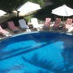 Pool side accomodation
