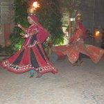 Rajasthani dancing at the hotel