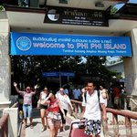 Crowded Phi Phi Don Pier