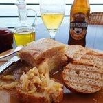 potato tortilla and beer