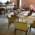 Breakfast area right across from Honeymoon Suite