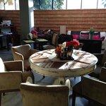 Breakfast area in morning