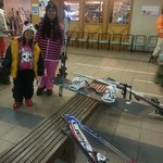 Getting geared up to ski!