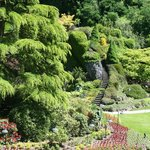 Butchart Gardens in June - staircase looked better on Pinterest...