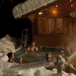 The hot-tub and sauna