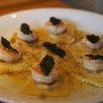 buuternut squash & shrimp raviolis