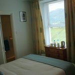 Looking out to Moel y Gest from King-sized double room