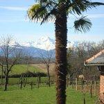 la vue face aux Pyrénées