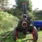 mclaren traction engine at a event day