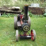 minature burrell traction engine at at a event day