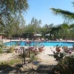 La piscine depuis les jardins