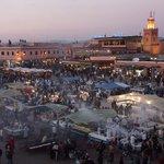main square. evening food stalls