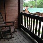 rocking chair sur le balcon