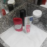 NICE TOUCH ARRANGING MY TOILETRIES