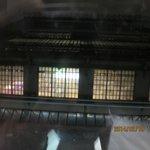 リヨン駅が窓越しに見えます。