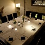 Private dining room available