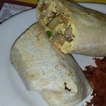 The famous breakfast burrito.