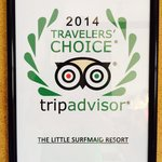 Travelers' Award. Wow. A real indication.
