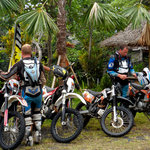 Gearing up mountain dirt bike tour Bali