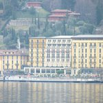 view of hotel from across the lake in Bellagio