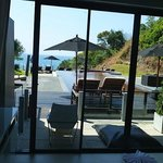 view from our room - walkout to infinity pool