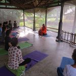 meditation with local monk