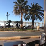 Breakfast view from Sarao on the promenade in the sunshine