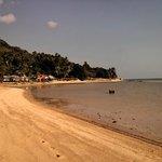 Beach, bungalows and restaurant