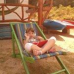 Enojoying on the beach