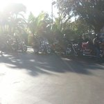 Motorcycle group in TRAVELODGE