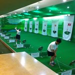 Golf area at gym