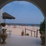 Hotel right on beach