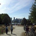 Utsikt mot Vancouver sentrum fra Stanley Park
