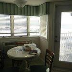 Windows overlooking the water