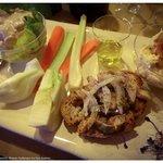 piatto degustazione olio nuovo, verdure locali e zafferano